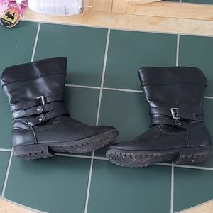 Girls leather boots and jacket